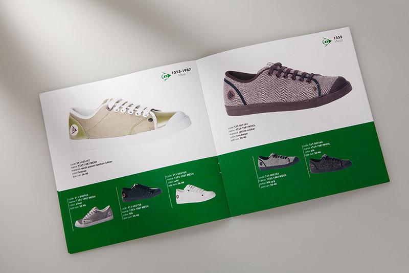 Stampa digitale - Esempio di pieghevole di scarpe