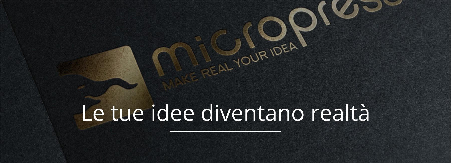 Logo fondo nero - Micropress srl - Fermo